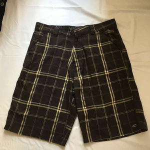 Oneill Mens Flat Front Casual Board Shorts Size 34